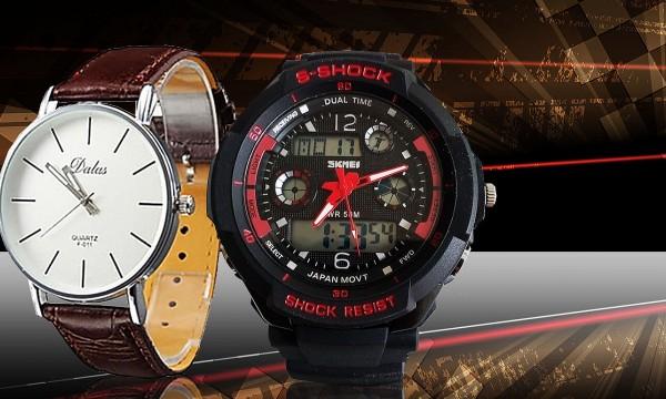 fotka zľavy Každý správny džentlmen si zaslúži poriadne hodinky! Vyberte si  z elegantných modelov Quartz 9cd1b4a9b4